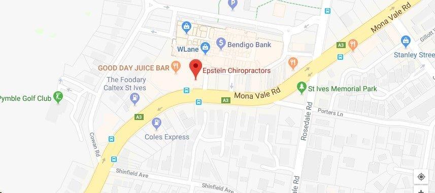 st ives chiropractor |  epstein chiropractors | map